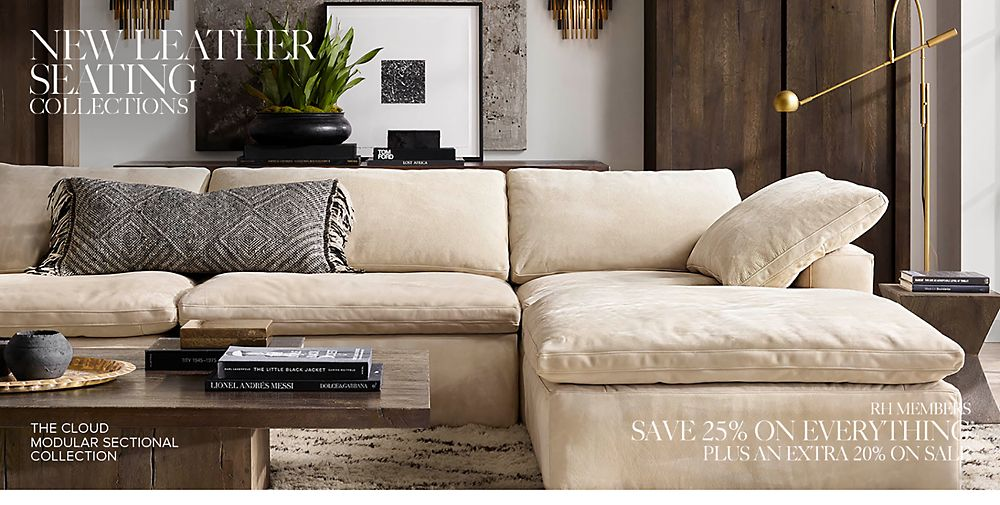 Marvelous Restoration Hardware Leather Sectional Couches Uwap Interior Chair Design Uwaporg
