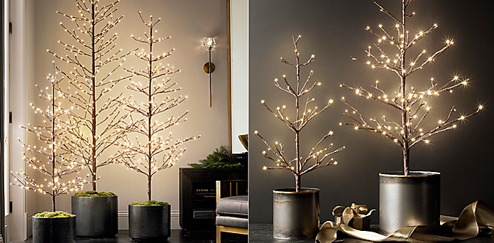 starlit tree collection - Restoration Hardware Christmas Lights