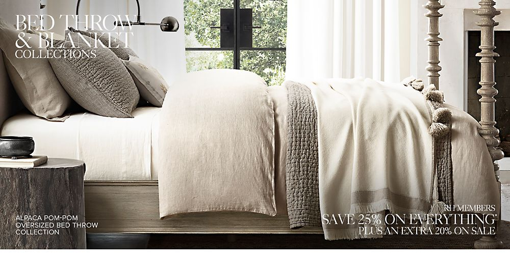 Shop Our Bed Throw Collections
