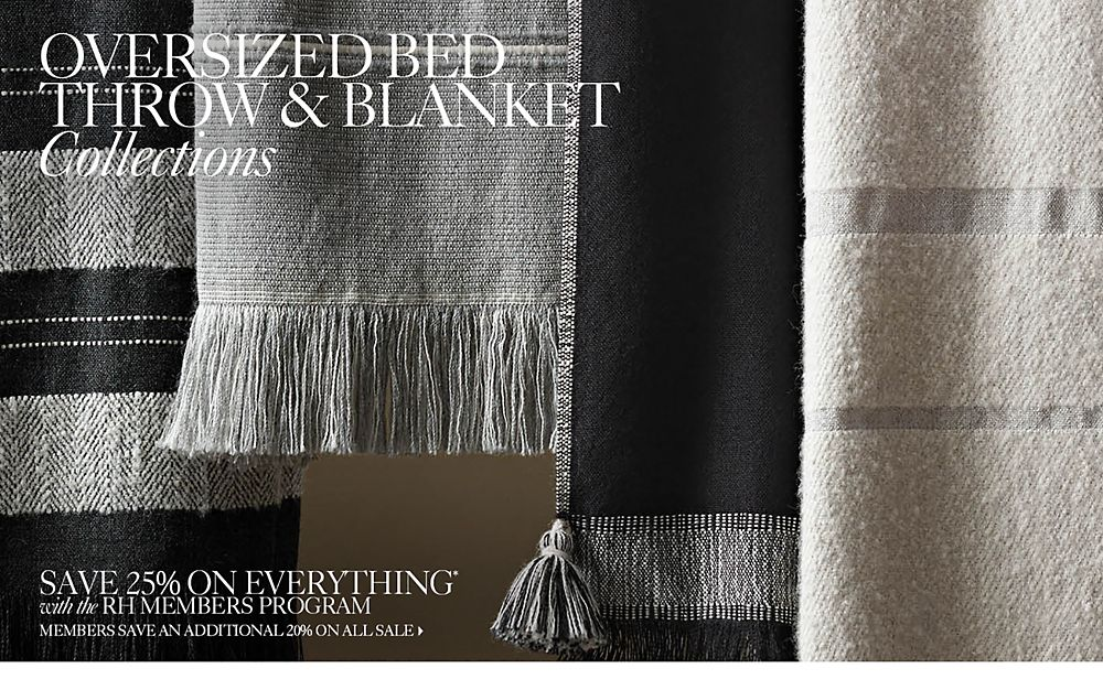 Oversized throws and blankets