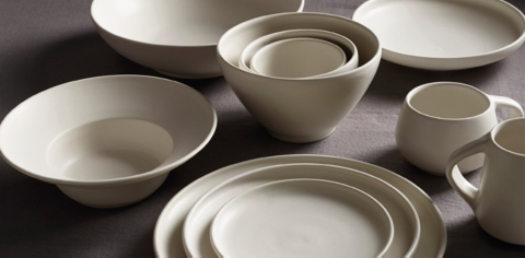 Resources & Wheeler Dinnerware Collection - White | RH Modern