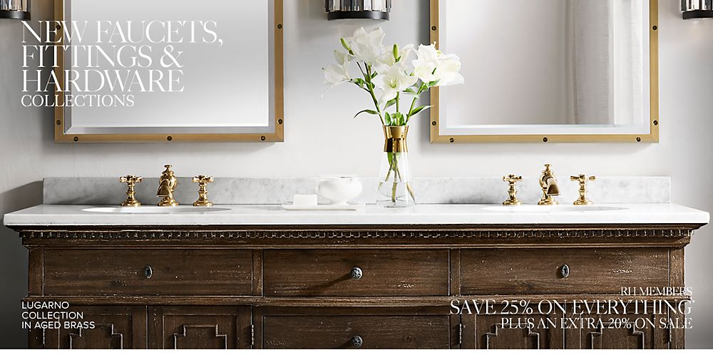 Bath Faucets, Fittings & Hardware Collections | RH