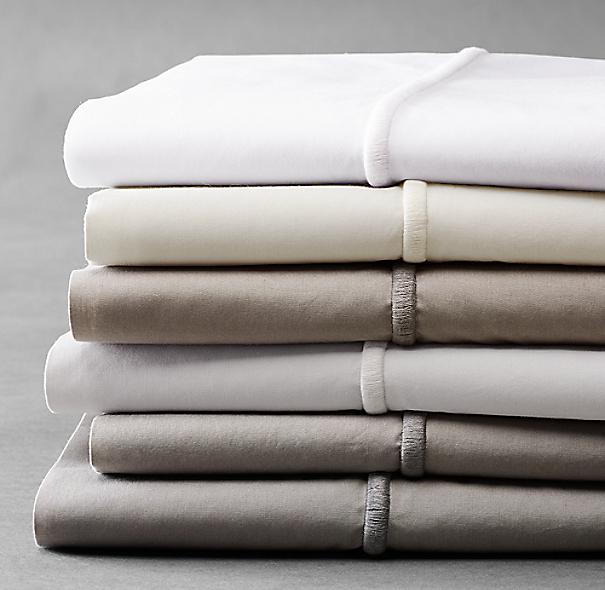 Italian Bold Satin Stitch Cotton Sheet Set