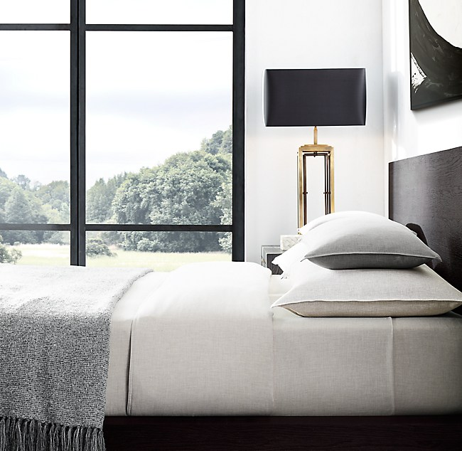 Heathered Cotton Cashmere Bedding Collection