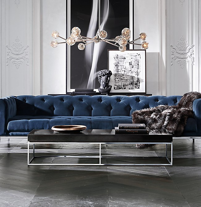 "Restoration Hardware Sofa Throws: Boule De Cristal Round Chandelier 48"""