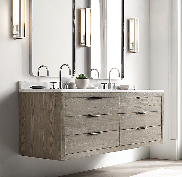Restoration Hardware Bathroom Vanity Knockoff: Bristol Flat Mirror