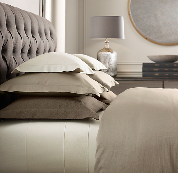 Restoration Hardware Bedroom Colors Cute Black And White Bedroom Ideas Little Boy Bedroom Furniture Girls Bedroom Colour Ideas: Italian Vintage-Washed 600 Sateen Duvet Cover