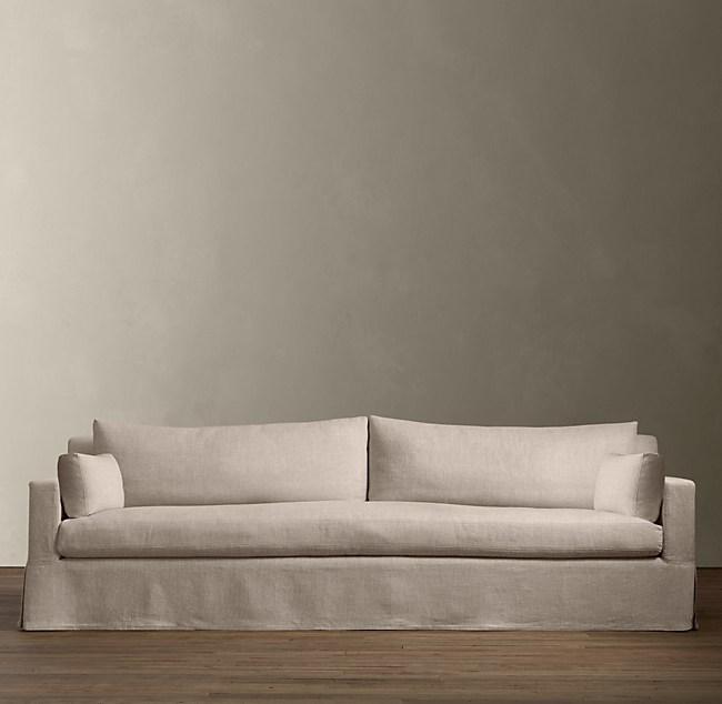 Belgian Track Arm Slipcovered Sofa