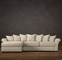 Camelback Upholstered Left-Arm Chaise Sectional