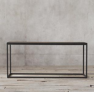 Metal Parquet Console Table