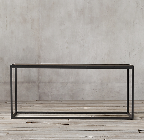 Metal Parquet Console Table