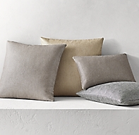 Luxe Metallic Basket Weave Pillow Cover