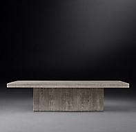 Reclaimed Russian Oak Plinth Square Coffee Table