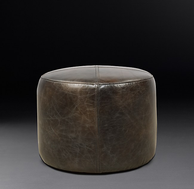 Amazing 21 Cooper Leather Round Ottoman Forskolin Free Trial Chair Design Images Forskolin Free Trialorg