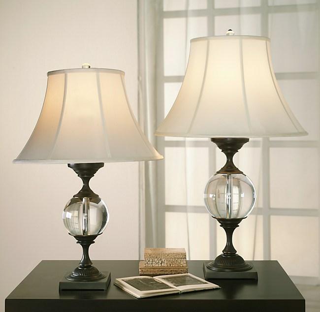 Crystal Ball Small Urn Table Lamp
