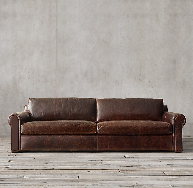 . Lancaster Leather Sofa
