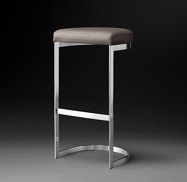 Superb 1960S Rome Leather Backless Stool Machost Co Dining Chair Design Ideas Machostcouk
