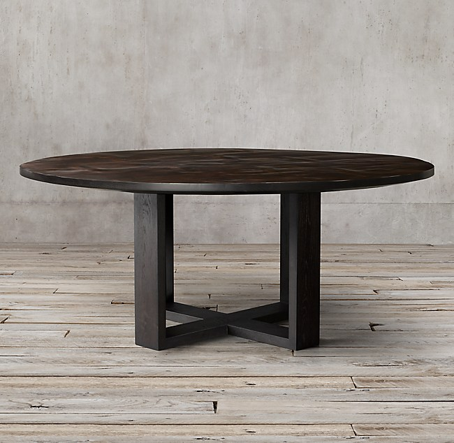 Wyeth Split Bamboo Cross Base Round Dining Table