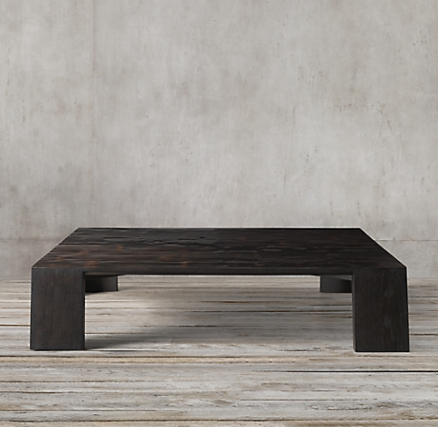New Wyeth Split Bamboo Square Coffee Table