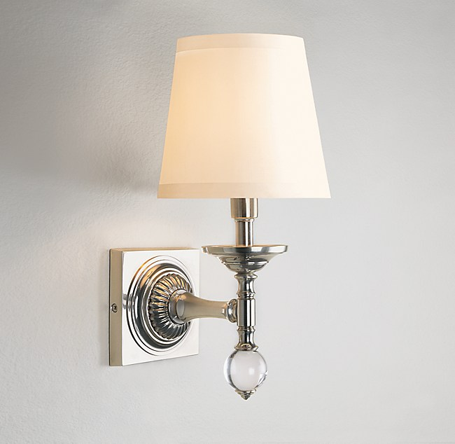 new product cf425 4b8d4 Crystal Ball Sconce