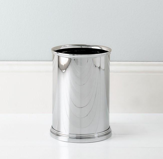 small chrome bathroom trash can - best bathroom 2017