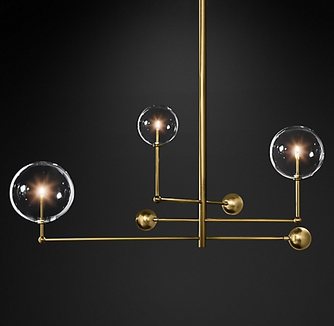 Glass globe mobile chandelier collection rh more finishes aloadofball