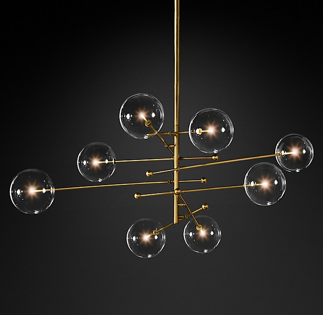 Glass globe mobile 8 arm chandelier collection rh more finishes aloadofball Image collections