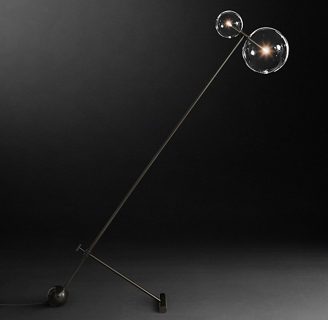 Glass globe mobile boom floor lamp aloadofball Image collections