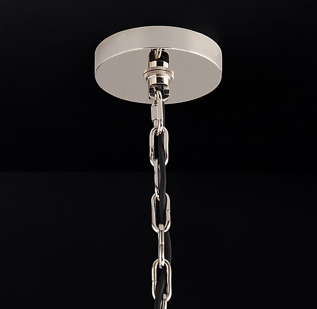 Cathedral brass chandelier extension chain