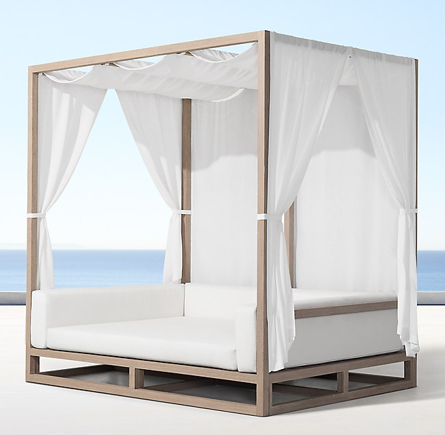 Excellent Aviara Teak Canopy Daybed JT53