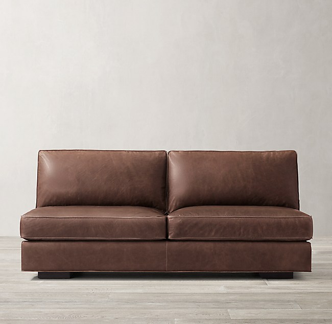 Maddox Leather Armless Sofa