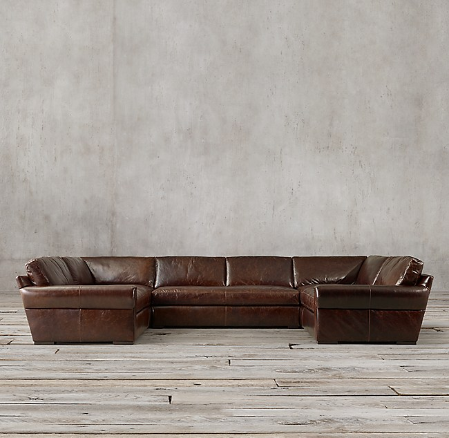 Shown In Italian Brompton Cocoa Sectional Consists Of 1 Left Arm Return Sofa Armless And Right