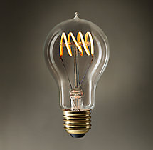 A19 Amber Quad-Loop Filament LED Bulb