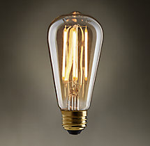 ST18 Amber Squirrel-Cage Filament LED Bulb