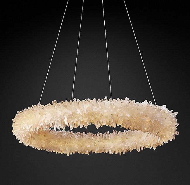 Geode Quartz Crystal Chandelier - Quartz chandelier crystals