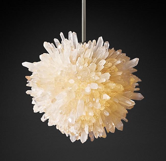 Geode Quartz Crystal Pendant - Quartz chandelier crystals