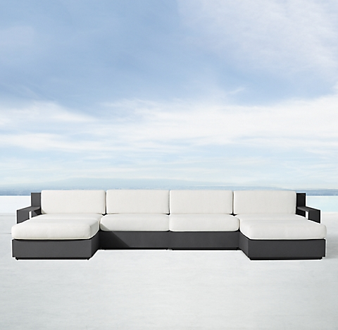 Marbella Aluminum Clic Modular Customizable Sectional