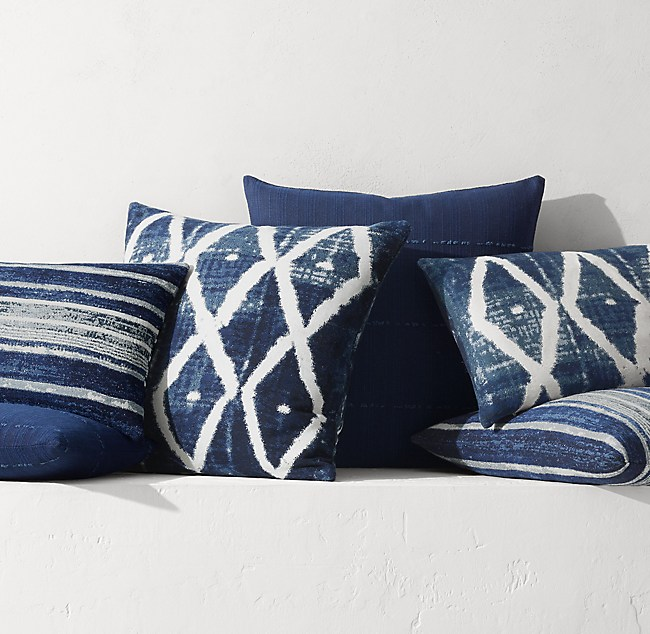 Outstanding Batik Pillow Collection By Kerry Joyce Indigo Onthecornerstone Fun Painted Chair Ideas Images Onthecornerstoneorg