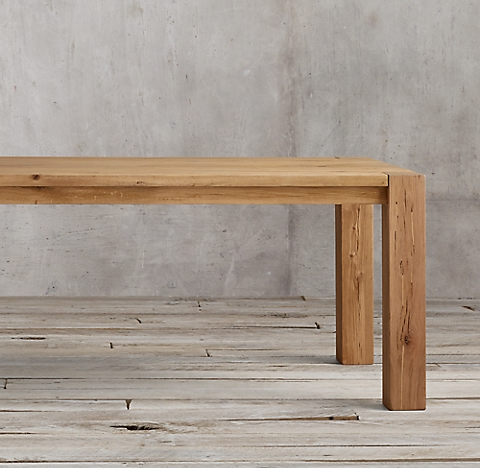 More Sizes Finishes Reclaimed Russian Oak Parsons Rectangular Extension Dining Table