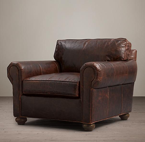 Restoration Hardware Leather Chair: Original Lancaster Leather Chair