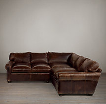 Preconfigured Classic Lancaster Leather Corner Sectional