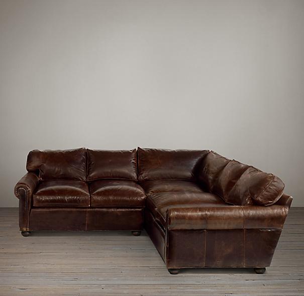 Preconfigured Original Lancaster Leather Corner Sectional