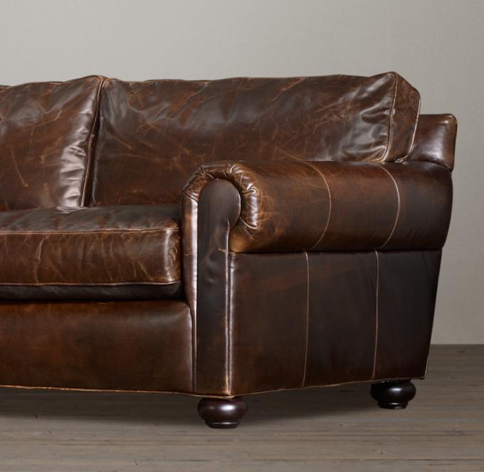 Leather Sectional Sofa Restoration Hardware: Classic Lancaster Leather Sleeper Sofa
