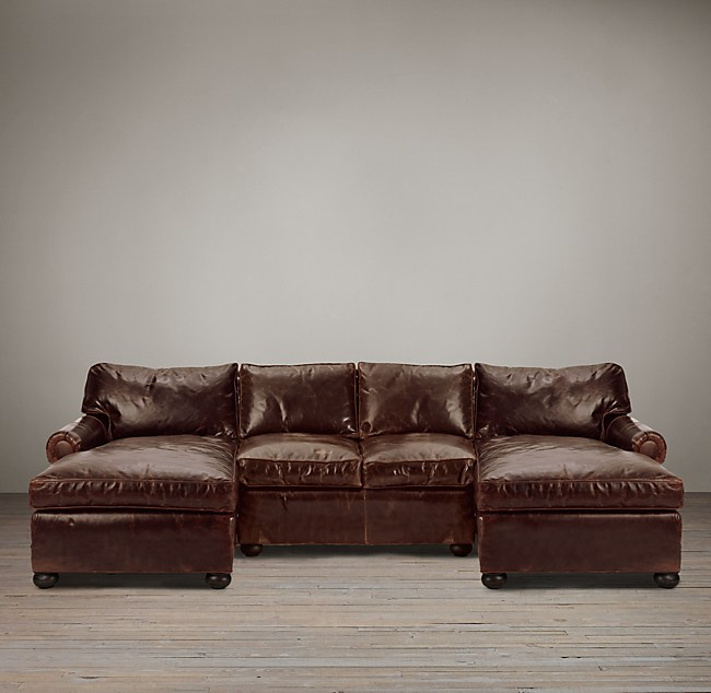 Original Lancaster Leather U Chaise Sectional