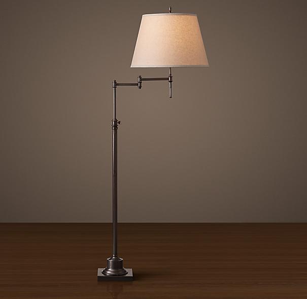 library swing arm floor lamp. Black Bedroom Furniture Sets. Home Design Ideas