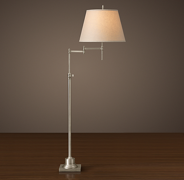 Library Swing-Arm Floor Lamp