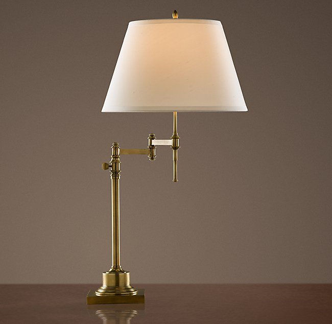 Library swing arm table lamp aloadofball Images