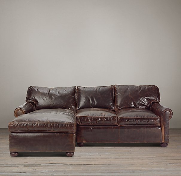 Preconfigured Original Lancaster Leather Left Arm Chaise