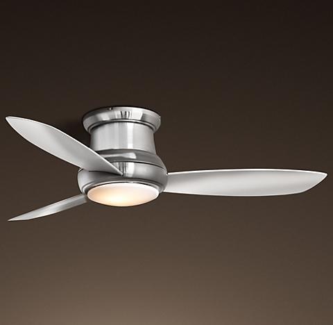 Ceiling fans rh concept flushmount ceiling fan mozeypictures Images