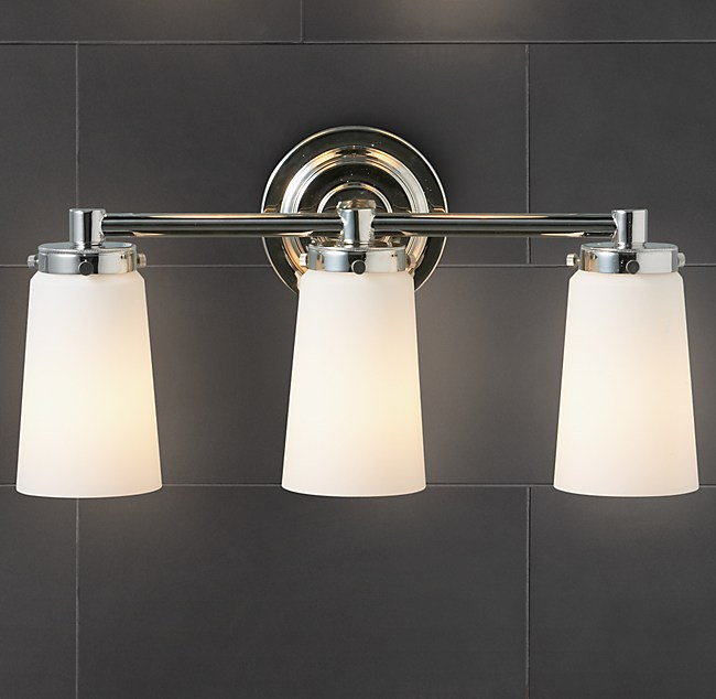 Asbury Triple Sconce - Triple sconce bathroom lighting